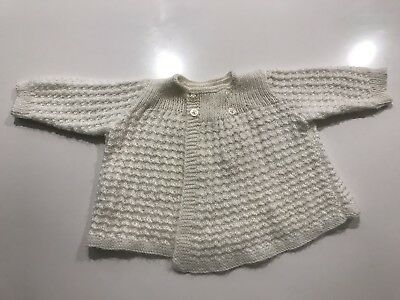 Gorgeous Knitted Baby Cape Cardigan 0-9M