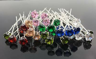 20pcs Crystal Rhinestone Diamante Wedding Bridal Jewelry Prom Hair Pins Clip