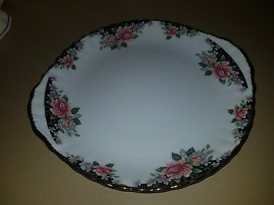 Serving plate Displays Rose/gold trim piping Royal Albert Bone China Concerto