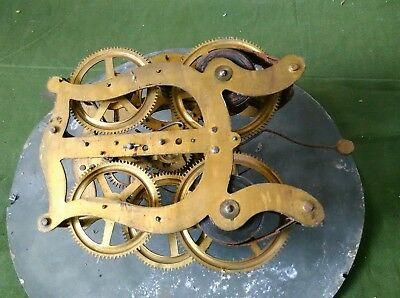 Clock Mechanism.  Old Clockwork Movement. Vintage Item.