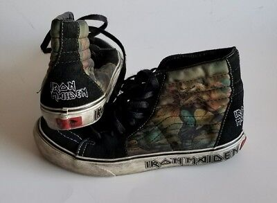 8862f151f67f Iron Maiden Powerslave VANS High Tops Sk8 Shoes M6.5 W 8