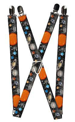 New Buckle Down Kids' Elastic Solar System Print Clip-End Suspenders