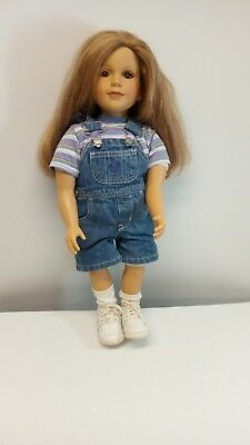 My Twinn Doll with Sandy Blond hair & Brown Eyes in Original Overalls Outfit
