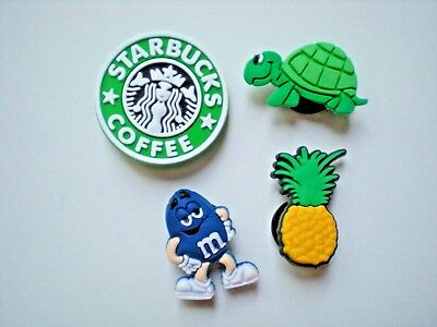 Jibbitz Clog Shoe Charm Crocs Bracelet Accessories 4 Starbucks Pineapple Turtle
