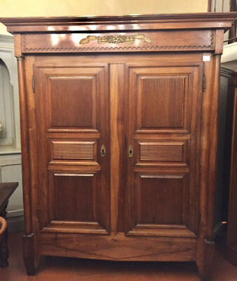Important Wardrobe First Empire in walnut on column full