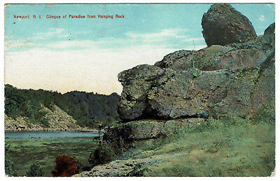 AK US USA Post Card NWPORT Glimpse of Paradise from Hanging Rock gelaufen 1912
