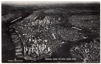 AK US USA Post Card Aerial View of NEW YORK ungel. vor 1945