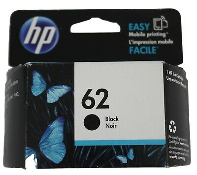 HP 62 Black Ink Cartridge Expired October 2016 New Factory Sealed