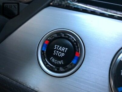 M/// Color Real Carbon Button Start For BMW E90 92 3 series 2009-11 320i Z4 E89