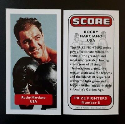 BOXING - USA - ROCKY MARCIANO - Score PRIZE FIGHTERS UK trade card