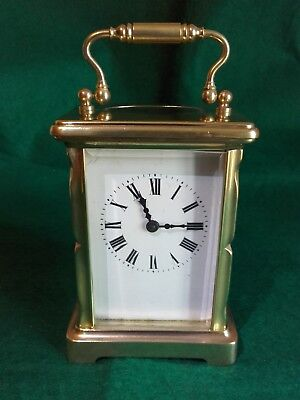 Antique French brass carriage clock for spares or repair