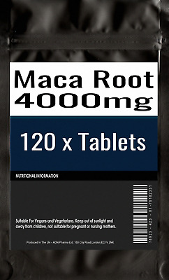 120 of Maca Root Capsules 2500mg HIGH STRENGTH Fertility Libido Supplement