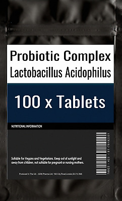 100 of Probiotic MAX 6 Billion CFU Veg Capsule Acidophilus FOS Prebiotic