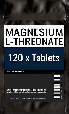 120 of MAGNESIUM L-THREONATE | 500mg Capsules | Bioavailable Form for the Brain