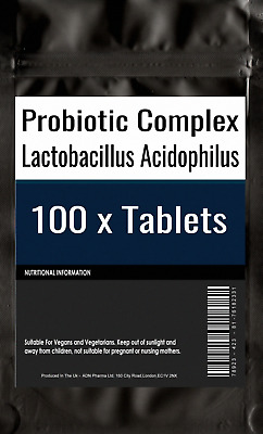 100 of Probiotic MAX 6 Billion CFU Veg Capsules Acidophilius HIGH Potency