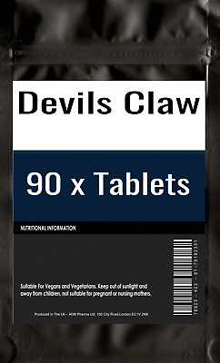 90 of Devils Claw Formula joint and back Tablets Arthritis