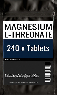 240 of MAGNESIUM L-THREONATE | 500mg Capsules | Bioavailable Form for the Brain