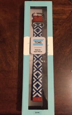 Toms Apple Watch Band Blue Woven 38mm