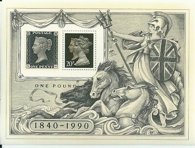1990 - GB 150th Anniv of Penny Black Stamp in Miniature Sheet MS1501 MNH