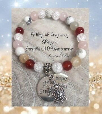 Fertility Pregnancy IVF Childbirth & Beyond Oil Diffuser REIKI  Bracelet