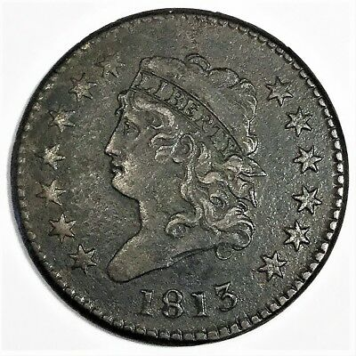 1813 Classic Head Large Cent Beautiful High Grade Coin Rare Date