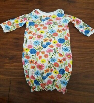 0-6 Months Floral Baby Girl Sleep Gown Nightgown
