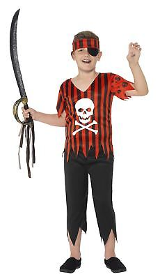 Pirate Jolly Roger Kids Fancy Dress Pirates Dress Up Costume Book Week Outfit