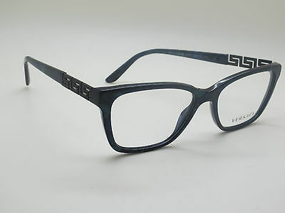 56537af1557c NEW Authentic VERSACE Mod. 3192-B 5127 Marble Blue 52mm RX Eyeglasses