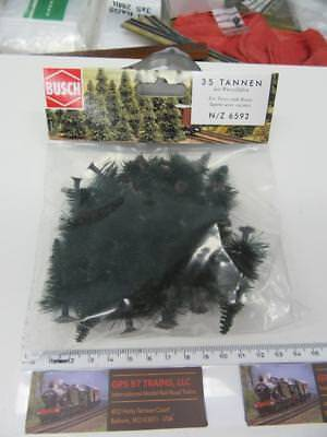 Z / N - Busch 6592  Fir Trees with Roots (Pack of 35 Pieces) - NIB