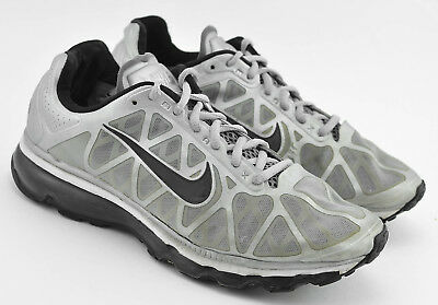 MENS NIKE AIR Max + 2011 Running Shoes Size 8.5 Us Silver Black White 429889 013