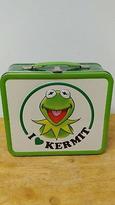 Kermit the Frog lunch box green plaid Muppets