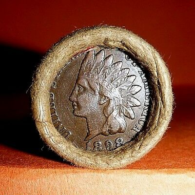 VINTAGE Flying Eagle Indian Head Cent Wheat Penny Roll 1898 & 1911 ENDS