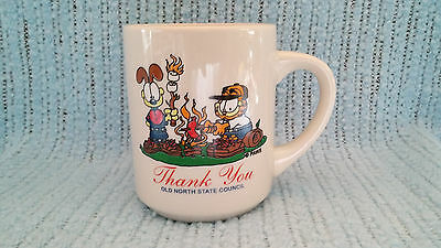 Vintage Boy Scout Coffee Cup-Mug-Garfield-Odie-Old North State Council