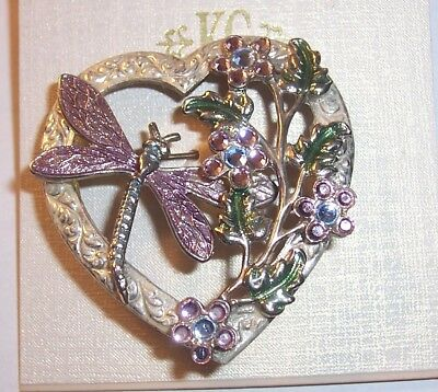 Vintage  ''    Dragonfly In The Garden   '' Brooch Pin