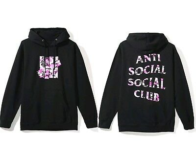 6b71c9bf19d5 ASSC antisocial social club x UNDEFEATED hoodie camo pink black size L  authentic