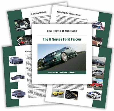 Ford Book - The Barra & the Boss - Development & Production of BA BF Falcon FPV