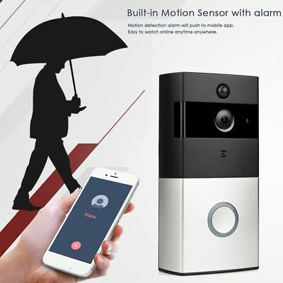 Home Security Video HD Wifi Enabled Door Bell Cam Night Vision Monitor Bell---