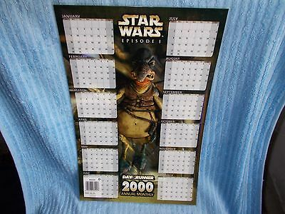 Star Wars Episode 1 2000 Calendar