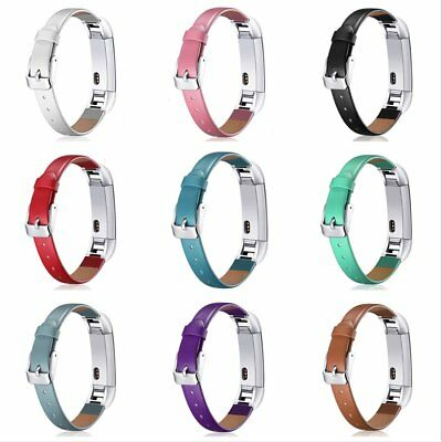 New Replacement Leather Watch Wrist Band Strap For Fitbit Alta HR Tracker TU