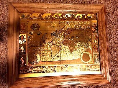 Framed gold foil nova totivs terrarvm old world mapblaeu wall map framed gold foil nova totivs terrarvm old world mapblaeu wall map vintage gumiabroncs