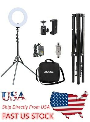 "USA  14"" LED Ring Light Selfie Stand Photo Photography For Phone Camera Video"