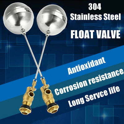 1'' Float Valve - Brass Stainless Steel Water Trough Automatic Cattle Bowl Tank