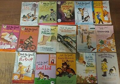 Lot of 16 Nate the Great Marjorie Sharmat Chapter Series Set Kid Child Books U60