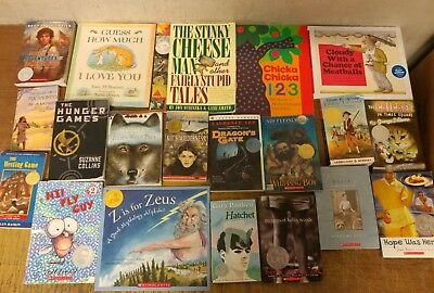 Lot of 20 Newberry Caldecott Winning Award AR RL Kid Children Books Read Set U62