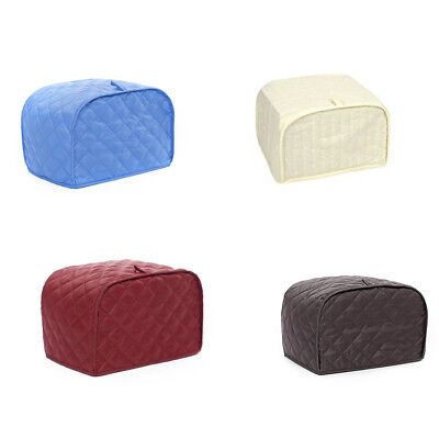 Hot Quilted Kitchen Dining Countertop Appliance 2/4 Slice Toaster Dust Cover US