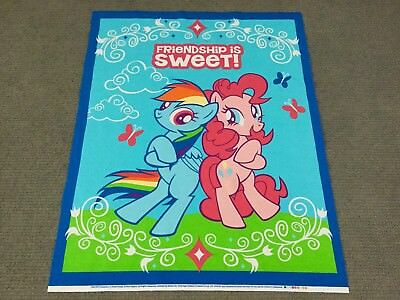 My Little Pony Fabric Panel Girls Baby Nursery Quilt Panel Cot Panel Horse