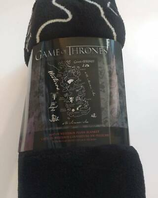 "Game of Thrones GOT Plush Blanket 50X60"" Coral Throw Map of Westeros 2019 New"