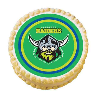 Canberra Raiders NRL Team Edible Cake Image