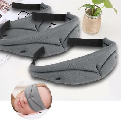 3D Travel Sleep Eye Mask Soft Memory Foam Padded Cover Sleeping Relax Blindfold