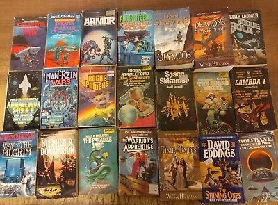 Lot of 101 Science Fiction Fantasy Vintage Rare Book Paperback SCI-FI UNSORTED